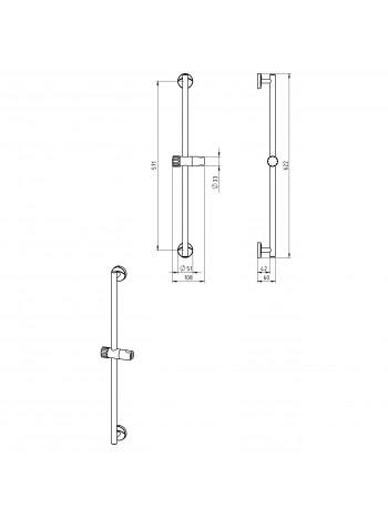 Suport ajustabil pentru dus Metalia 11 -0139.0 -FERRO -Metalia 11 -204,99lei -product_reduction_percent