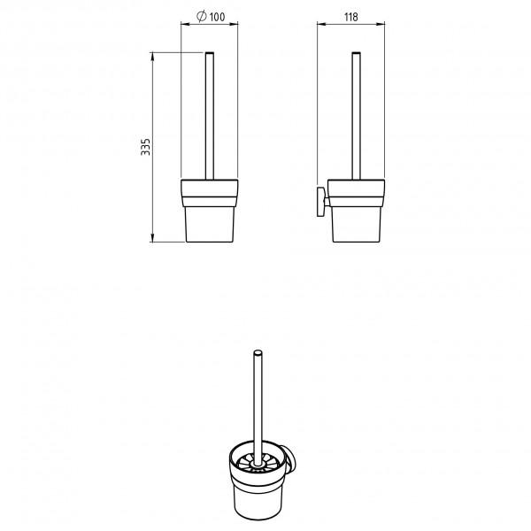 Portperie pentru toaleta Metalia 11 -0133.0 -FERRO -Metalia 11 -174,99lei -product_reduction_percent