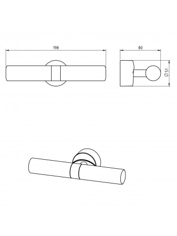 Aplica dubla pentru baie Metalia 11 -0105.0 -FERRO -Metalia 11 -184,99lei -product_reduction_percent