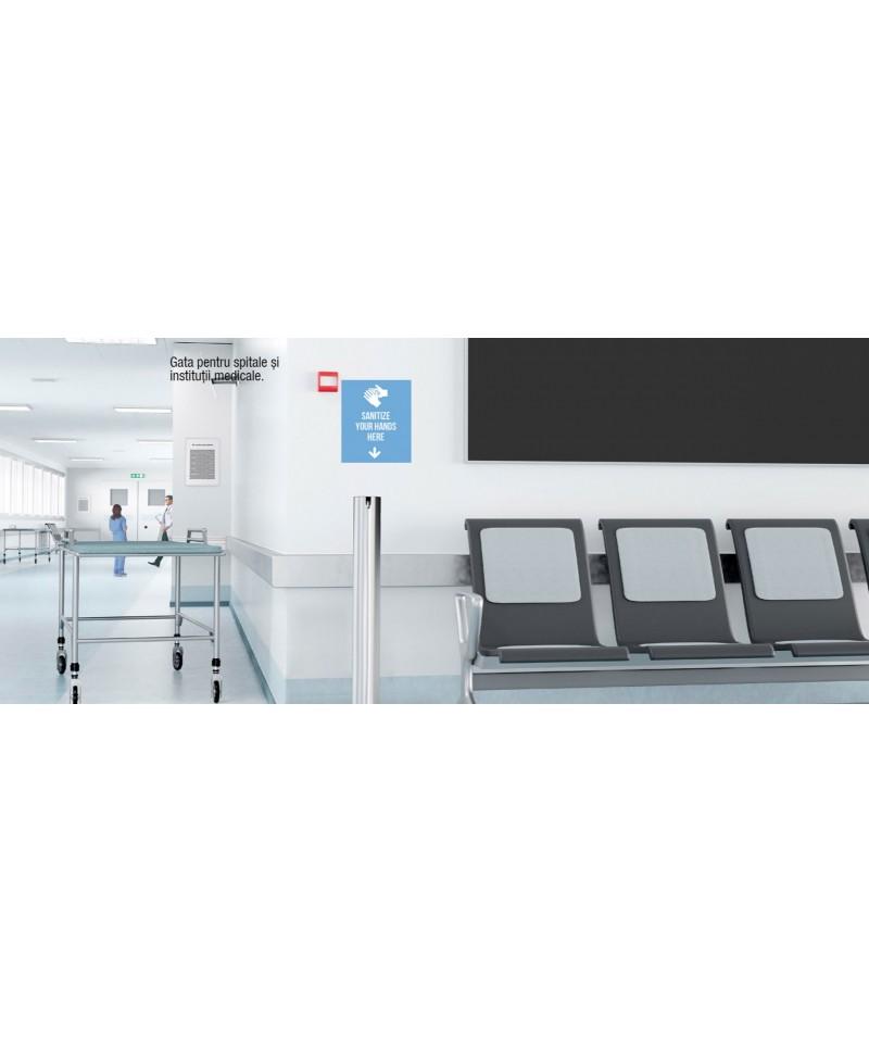 Dispenser gel sau lichid dezinfectant pentru maini, cu actionare la pedala, otel inoxidabil 2 Litri -Astreea_L - -Acasa -1,29...