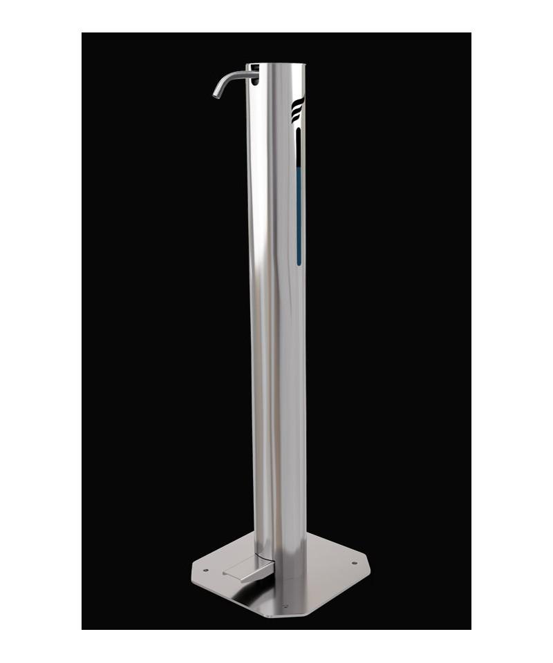 Dispenser gel sau lichid dezinfectant pentru maini special pt copiii, cu actionare la pedala, otel inoxidabil 1 Litri -Astree...
