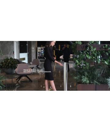 Dispenser gel sau lichid dezinfectant pentru maini, cu actionare la pedala, otel inoxidabil 1 Litri -Astreea_S - -Acasa -899,...