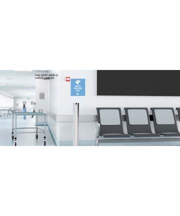 Dispenser gel sau lichid dezinfectant pentru maini, cu actionare la pedala, otel inoxidabil 1 Litri -Astreea_M - -Acasa -1,29...