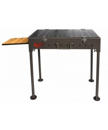 Gratar gradina din otel, FM Grill Premium, pe lemn si carbune, portabil, 58 x 30 cm -Portabil - -Acasa -279,99lei -