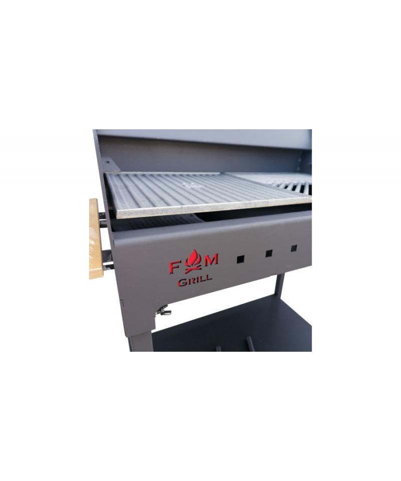 Gratar gradina din otel, Grill Premium, cu capac si termometru, 60 x 35 cm -Fonta si capac 60 x 35 cm - -Acasa -609,99lei -