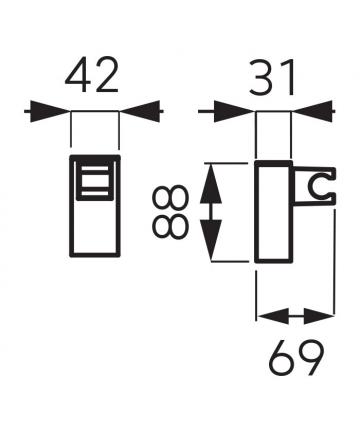 Suport dus patrat reglabil -D/MULTI2.0 -FERRO -Suporti de sustinere -47,99lei -product_reduction_percent