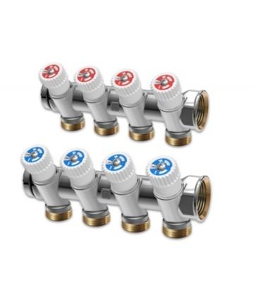 """Distribuitor IVAR unghi cu robinet 1"""" x EK 3 CAI -506816N -IVAR -Distribuitoare din alama -95,99lei -"""