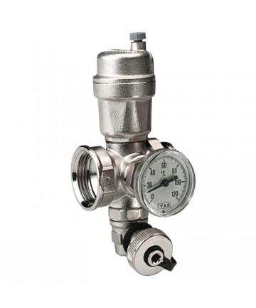 Teu distribuitor cu robinet golire + aerisitor automat + termometru -500124 -IVAR -Aerisire -134,99lei -