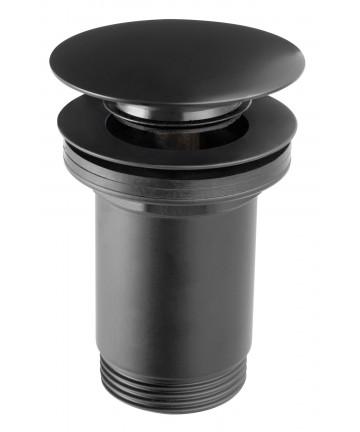 "Ventil de scurgere negru D.1 1/4"" Rotondo, pentru lavoare fara preaplin -S283B-BL-B -FERRO -Ventile scurgere -114,99lei -pro..."